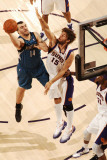 Minnesota Timberwolves v Phoenix Suns: Robin Lopez and Nikola Pekovic Photographic Print by Barry Gossage