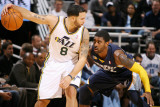 Memphis Grizzlies v Utah Jazz: Deron Williams and O.J. Mayo Photographic Print by Melissa Majchrzak