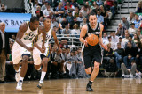 San Antonio Spurs v Utah Jazz: Paul Millsap and Manu Ginobili Photographic Print by Melissa Majchrzak