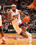 Phoenix Suns v Miami Heat: LeBron James Photographic Print by Victor Baldizon
