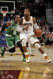 Boston Celtics v Cleveland Cavaliers: Mo Williams and Rajon Rondo Photographic Print by David Liam Kyle