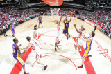 Los Angeles Lakers v Houston Rockets: Derek Fisher Photographic Print by Bill Baptist