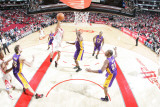 Los Angeles Lakers v Houston Rockets: Lamar Odom and Kevin Martin Photographic Print by Bill Baptist