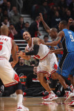 Orlando Magic v Chicago Bulls: Carlos Boozer, Keith Bogans, Quentin Richardson and Rashard Lewis Photographic Print by Gary Dineen