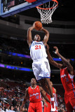 Los Angeles Clippers v Philadelphia 76ers: Thaddeus Young and Al-Farouq Aminu Photographic Print by Jesse D. Garrabrant