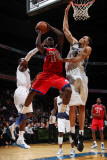 Philadelphia 76ers v Washington Wizards: Jrue Holiday, JaVale McGee and John Wall Photographic Print by Ned Dishman