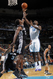 San Antonio Spurs v New Orleans Hornets: Emeka Okafor and Antonio McDyess Photographic Print by Layne Murdoch
