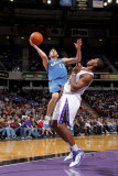Washington Wizards v Sacramento Kings: Kirk Hinrich and Jason Thompson Photographic Print by Rocky Widner