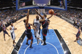 Atlanta Hawks v Orlando Magic: Quentin Richardson, Jason Collins and Josh Smith Photographic Print by Fernando Medina