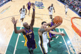 Los Angeles Lakers v Utah Jazz: Deron Williams and Lamar Odom Photographic Print by Melissa Majchrzak