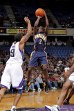 Indiana Pacers v Sacramento Kings: Darren Collison and Luther Head Photographic Print by Rocky Widner