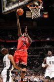 Chicago Bulls v San Antonio Spurs: Luol Deng and Tony Parker Photographic Print