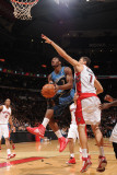 Washington Wizards v Toronto Raptors: John Wall and Andrea Bargnani Photographic Print by Ron Turenne