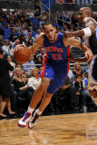 Detroit Pistons v Orlando Magic: Tayshaun Prince Photographic Print by Fernando Medina