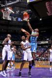 New Orleans Hornets v Sacramento Kings: Emeka Okafor and Carl Landry Photographic Print by Rocky Widner