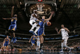 Golden State Warriors v Dallas Mavericks: Jason Terry, Alexis Ajinca and Andris Biedrins Photographic Print by Glenn James