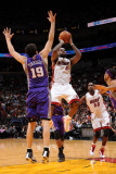 Phoenix Suns v Miami Heat: LeBron James and Hedo Turkoglu Photographic Print by Andrew Bernstein