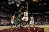 Boston Celtics v Cleveland Cavaliers: Joey Graham and Kevin Garnett Photographic Print by David Liam Kyle