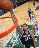 San Antonio Spurs v Utah Jazz: Tim Duncan Photographic Print by Melissa Majchrzak
