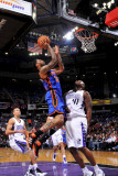 New York Knicks v Sacramento Kings: Wilson Chandler and Darnell Jackson Photographic Print by Rocky Widner