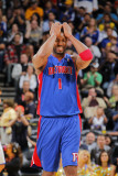 Detroit Pistons v Golden State Warriors: Tracy McGrady Photographic Print by Rocky Widner