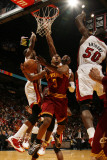 Cleveland Cavaliers v Miami Heat: Ramon Sessions and Joel Anthony Photographic Print by Issac Baldizon