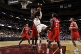 Philadelphia 76ers v Cleveland Cavaliers: J.J. Hickson, Evan Turner, Elton Brand and Jrue Holiday Photographic Print by David Liam Kyle