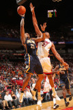 Indiana Pacers v Miami Heat: Brandon Rush and Jamaal Magloire Photographic Print by Victor Baldizon