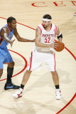 Oklahoma City Thunder v Houston Rockets: Brad Miller and Kevin Durant Photographic Print by Bill Baptist