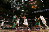 Boston Celtics v Cleveland Cavaliers: Rajon Rondo, Ramon Sessions and Ryan Hollins Photographic Print by David Liam Kyle
