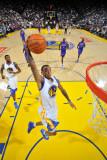 Detroit Pistons v Golden State Warriors: Monta Ellis Fotografisk trykk av Rocky Widner