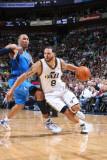 Dallas Mavericks v Utah Jazz: Deron Williams and Shawn Marion Photographic Print by Melissa Majchrzak