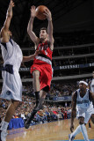 Portland Trail Blazers v Dallas Mavericks: Rudy Fernandez and Tyson Chandler Photographic Print by Glenn James