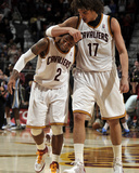 Memphis Grizzlies v Cleveland Cavaliers: Mo Williams and Anderson Varejao Photographic Print by David Liam Kyle