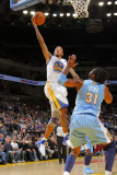 Denver Nuggets v Golden State Warriors: Monta Ellis and Nene Photographic Print by Rocky Widner