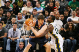 Memphis Grizzlies v Utah Jazz: Paul Millsap and Marc Gasol Photographic Print by Melissa Majchrzak