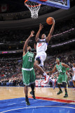 Boston Celtics v Philadelphia 76ers: Thaddeus Young and Glen Davis Photographic Print by David Dow