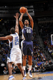 Memphis Grizzlies v Orlando Magic: Darrell Arthur and Chris Duhon Photographic Print by Fernando Medina