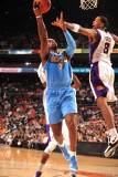 Denver Nuggets v Phoenix Suns: Channing Frye and Al Harrington Photographic Print by Barry Gossage