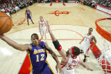 Los Angeles Lakers v Houston Rockets: Shannon Brown and Brad Miller Photographic Print by Bill Baptist