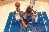 Los Angeles Lakers v Los Angeles Clippers: Shannon Brown, Al-Farouq Aminu and Ryan Gomes Photographic Print by Noah Graham