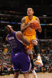 Sacramento Kings v Los Angeles Lakers: Matt Barnes and DeMarcus Cousins Photographic Print by Noah Graham