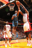 Washington Wizards v Miami Heat: Hilton Armstrong and Chris Bosh Photographic Print by Victor Baldizon