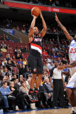 Portland Trail Blazers v Philadelphia 76ers: Andre Miller and Louis Williams Photographic Print by Jesse D. Garrabrant