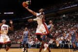 Charlotte Bobcats v Miami Heat: Dwyane Wade Photographic Print by Andrew Bernstein