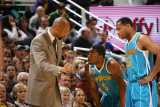New Orleans Hornets v Utah Jazz: Monty Williams, Marcus Thornton and Willie Green Photographic Print by Melissa Majchrzak