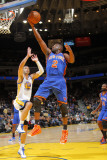 New York Knicks v Golden State Warriors: Raymond Felton and Vladimir Radmanovic Photographic Print by Rocky Widner