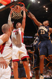 Indiana Pacers v Miami Heat: Zydrunas Ilgauskas and Brandon Rush Photographic Print by Victor Baldizon