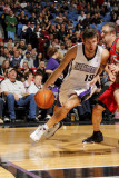 New Jersey Nets v Sacramento Kings: Beno Udrih and Jordan Farmar Photographic Print by Don Smith