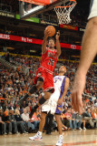 Chicago Bulls v Phoenix Suns: James Johnson and Jared Dudley Photographic Print by Barry Gossage